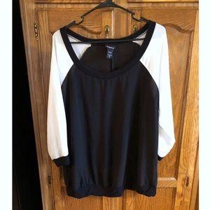 Torrid Chiffon Sleeve Top Size 1 (1X)